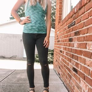 Blue/Green Tank Top (Mossimo-xs)